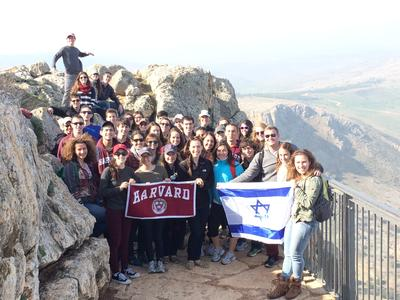 A Group of Harvard Students in Israel