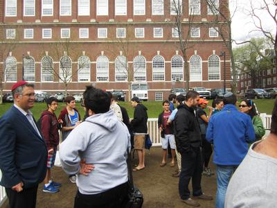 An Israeli Independence Day Celebration in Harvard's MAC Quadrangle