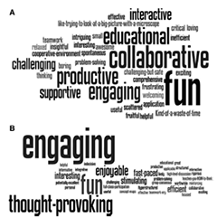 Case-Based Collaborative Learning Word Cloud