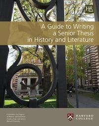 harvard history department thesis Students who wish to write a senior thesis must meet certain standards by the  end of the research seminar, and will be recommended for admission to history  of.