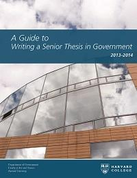 Government thesis harvard