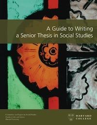 harvard senior thesis economics