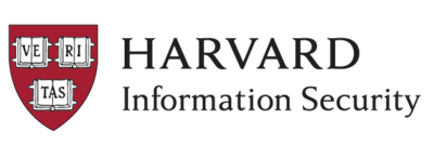 Harvard University Information Security Logo