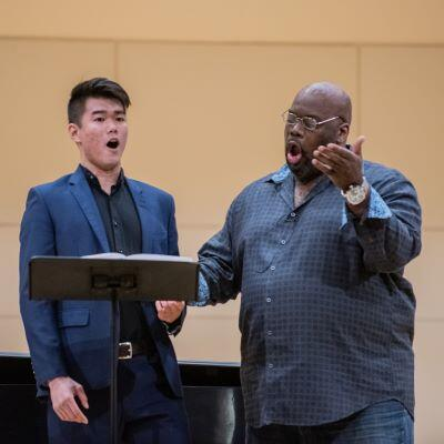 Student instructed by opera singer Morris Robinson