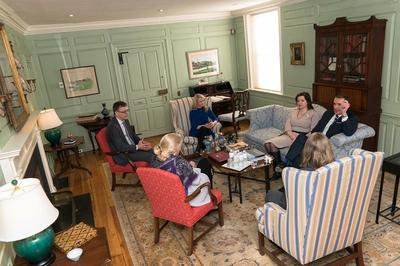 Discussion in the Wadsworth House Parlor