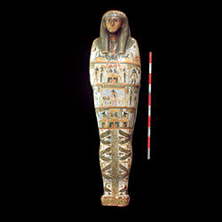 Coffin with Hieroglyphics.