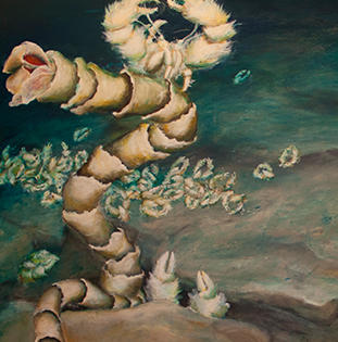 "Lily Simonson ""Party of the Yeti Crab"" painting"