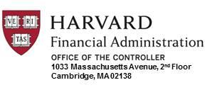 Harvard Financial Administration - Office of the Controller
