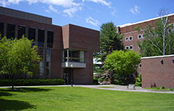 image of campus; link to medical and health careers information