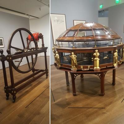 Electricity-generating machine; Orrery