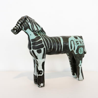 ceramic sculpture of a horse