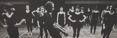 Merce Cunningham teaching a master class at Radcliffe College, 1982.