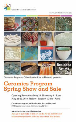 Spring 2018 Ceramics Show and Sale Postcard