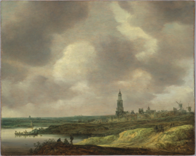 Oil paining: Jan van Goyen, View of Rhenen 1640