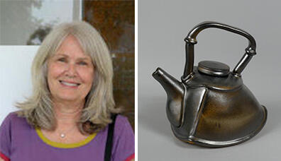 Delanie Wise and teapot