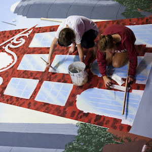 Harvard students painting