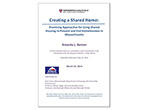 Creating a Shared Home: Promising Approaches for Using Shared Housing to Prevent and End Homelessness in Massachusetts