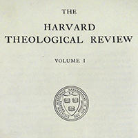 Harvard Theological Review, first volume title