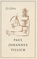 Bookplate of Paul Johannes Tillich (bMS00649)