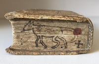 Book edge decorated with a doodle of a dog (R.B.R. BX2264 .E58 1577)