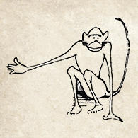 Monkey Illustration from the book, Dr. Dolittle.