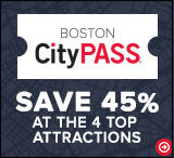Text: Boston CityPass, Save 45% at the top 4 attractions.