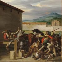Théodore Géricault, French, Cattle Market, 1818–19