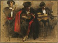 John Singer Sargent Study for El Jaleo at Harvard Art Museum