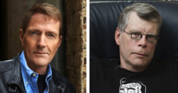 Stephen King and Lee Child at Harvard
