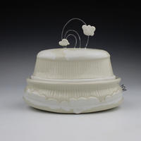 ceramic object with cloud decoration by Vanessa Norris