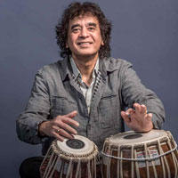 Photo of Zakir Hussain from presenter Global Arts Live