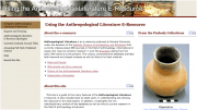 Anthropological Literature E-Resource