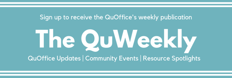 sign up for quweekly newsletter