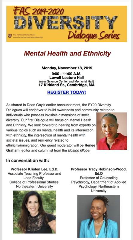 Mental Health and Ethnicity Event - Nov 18