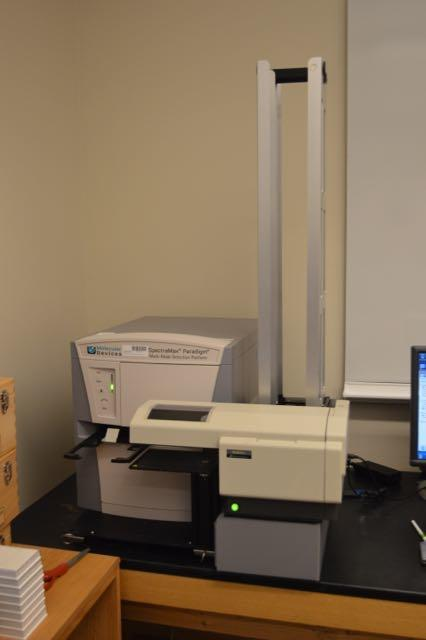Molecular Devices Spectramax Paradigm plate reader with plate stacker at the DRSC-FGR
