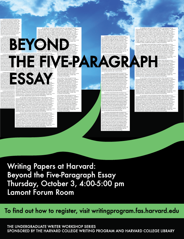 going beyond the five paragraph essay Going beyond the five-paragraph essay (cal poly pomona): you spent all that  time in high school learning to write five-paragraph essays why would you stop.
