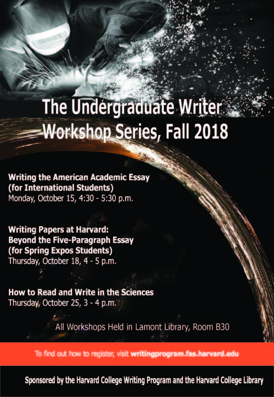 Fall 2018 Writing Workshop Poster