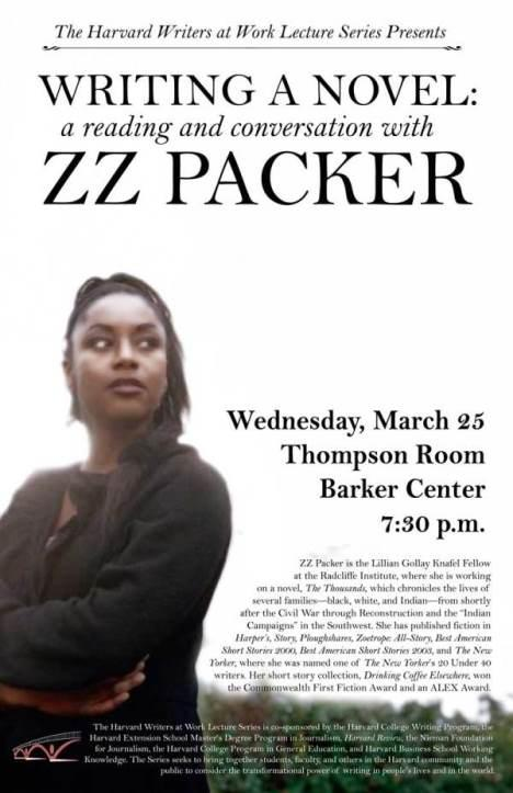 Writing a Novel: A Reading and Conversation with ZZ Packer, March 25, 2015