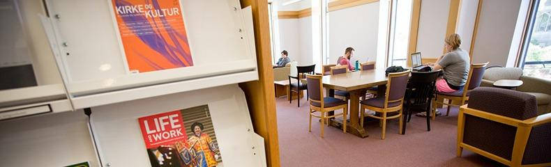 Library study desks