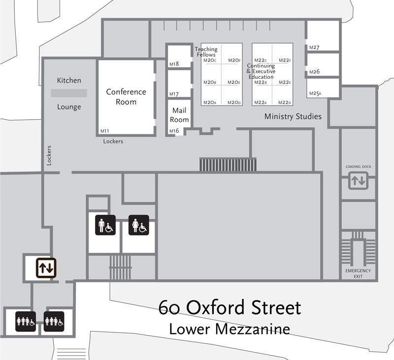 60 Oxford Mezzanine floor plan