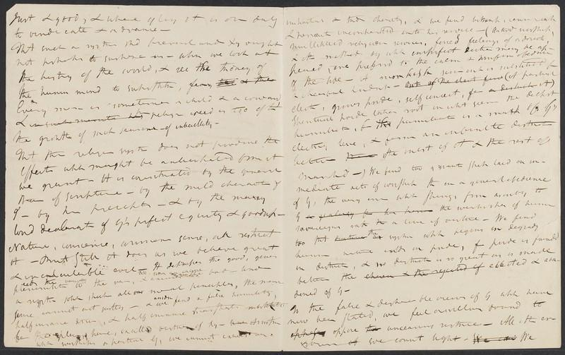 Baltimore Sermon Draft by William Ellery Channing, AHTL