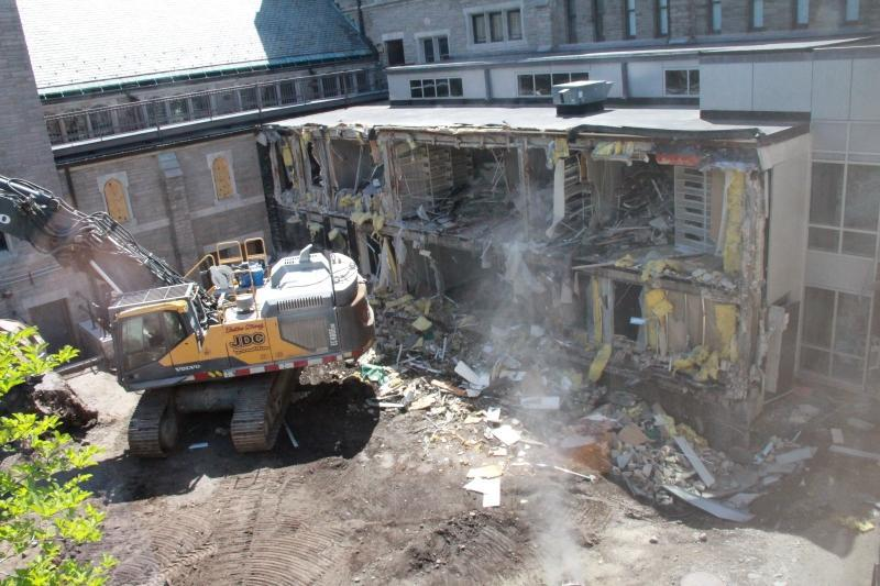 Cloister link demolition