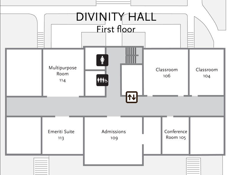 Divinity Hall first floor plan