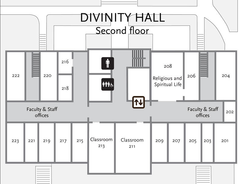 Divinity Hall second floor plan