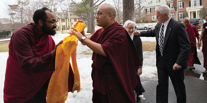 Lama Rod Owens with His Holiness the 17th Gyalwang Karmapa