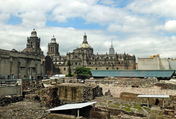 Excavation site of the Aztec Templo Mayor