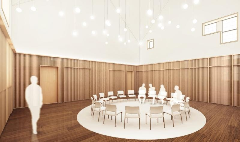 Rendering of Swartz Hall multifaith space