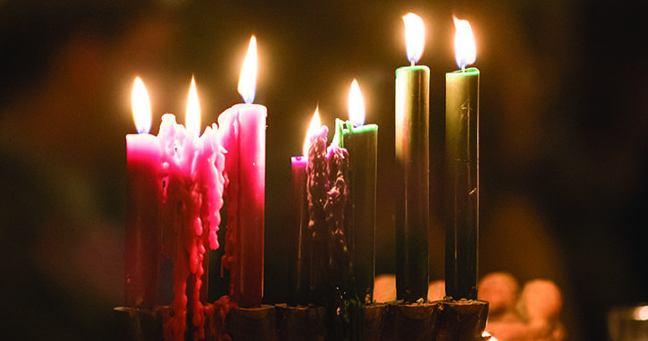 Candles burning during Seasons of Light