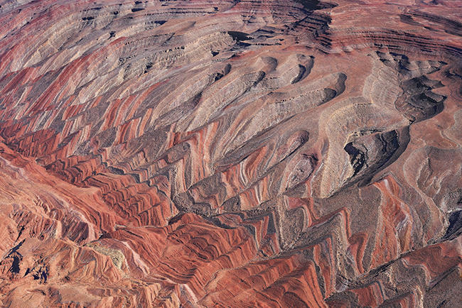 Aerial view of Bears Ears and Raplee Monocline