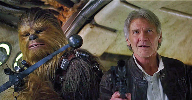 Film still from The Force Awakens